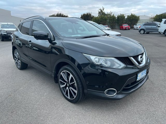 Used Nissan Qashqai J11 TI Devonport, 2015 Nissan Qashqai J11 TI Pearl Black 1 Speed Constant Variable Wagon