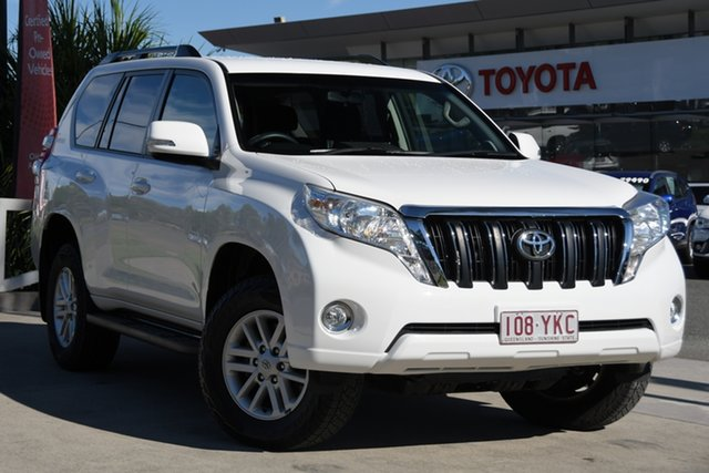 Pre-Owned Toyota Landcruiser Prado GDJ150R GXL North Lakes, 2016 Toyota Landcruiser Prado GDJ150R GXL Glacier White 6 Speed Sports Automatic Wagon