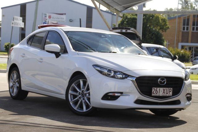 Used Mazda 3 BN5238 SP25 SKYACTIV-Drive Bundamba, 2017 Mazda 3 BN5238 SP25 SKYACTIV-Drive White 6 Speed Sports Automatic Sedan