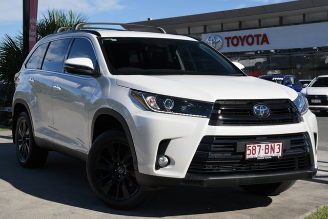 Pre-Owned Toyota Kluger GSU55R Black Edition AWD North Lakes, 2019 Toyota Kluger GSU55R Black Edition AWD Crystal Pearl 8 Speed Sports Automatic Wagon