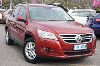 2010 Volkswagen Tiguan 5N MY11 125TSI DSG 4MOTION Wild Cherry Red 7 Speed.