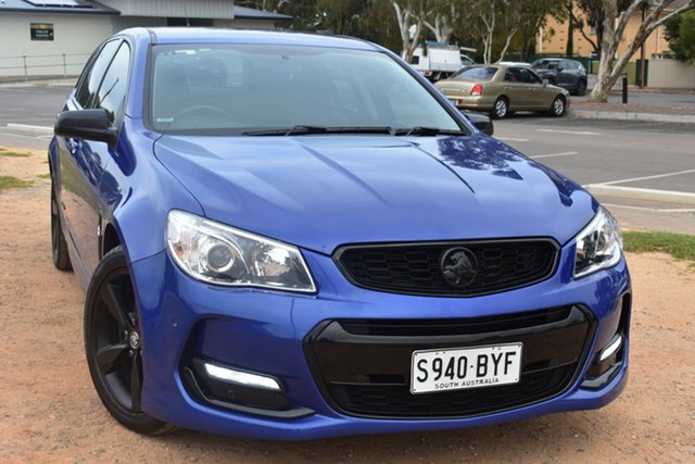 Used Holden Commodore VF II MY16 SV6 Sportwagon Black St Marys, 2016 Holden Commodore VF II MY16 SV6 Sportwagon Black Blue 6 Speed Sports Automatic Wagon