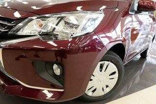 2021 Mitsubishi Mirage LB MY21 ES Wine Red 1 Speed Constant Variable Hatchback.