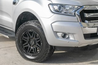 2017 Ford Ranger PX MkII XLT Double Cab 4x2 Hi-Rider Silver 6 Speed Sports Automatic Utility.
