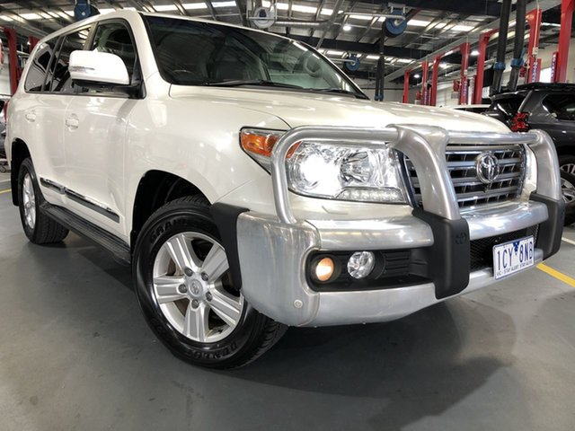 Pre-Owned Toyota Landcruiser VDJ200R MY13 Sahara Oakleigh, 2014 Toyota Landcruiser VDJ200R MY13 Sahara Crystal Pearl 6 Speed Sports Automatic Wagon