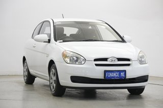 2006 Hyundai Accent LC MY04 GL Noble White 5 Speed Manual Hatchback.