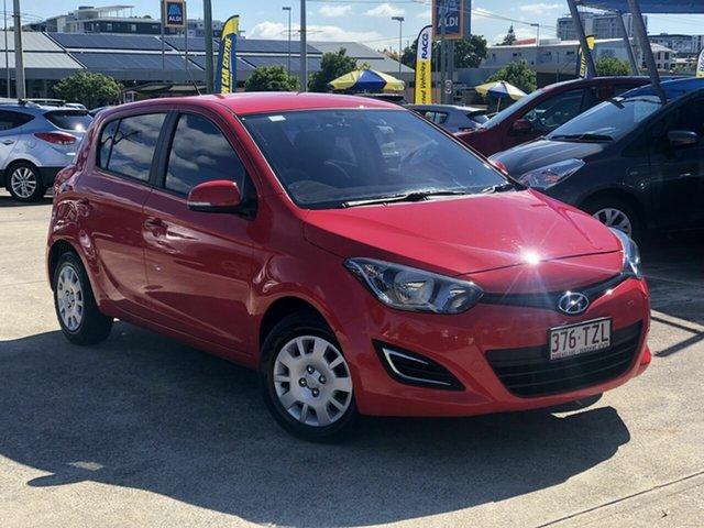 Used Hyundai i20 PB MY14 Active Chermside, 2013 Hyundai i20 PB MY14 Active Red 4 Speed Automatic Hatchback