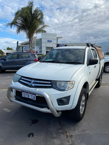 Used Mitsubishi Triton MN MY11 GL-R Double Cab Morley, 2011 Mitsubishi Triton MN MY11 GL-R Double Cab White 5 Speed Manual Utility