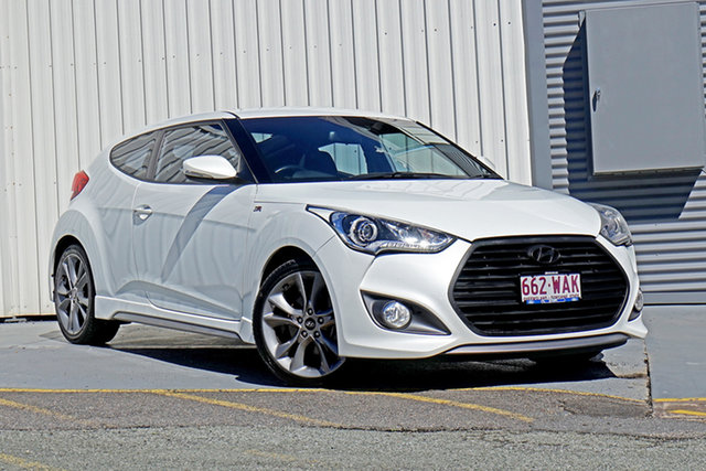 Used Hyundai Veloster FS4 Series II SR Coupe D-CT Turbo Springwood, 2015 Hyundai Veloster FS4 Series II SR Coupe D-CT Turbo White 7 Speed Sports Automatic Dual Clutch