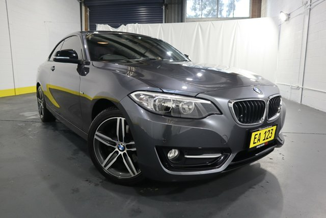 Used BMW 2 Series F22 220i Sport Line Castle Hill, 2016 BMW 2 Series F22 220i Sport Line Grey 8 Speed Sports Automatic Coupe