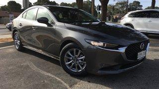 2021 Mazda 3 BP2S7A G20 SKYACTIV-Drive Pure Machine Grey 6 Speed Sports Automatic Sedan.