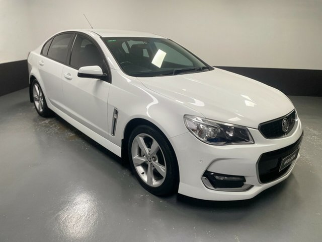 Used Holden Commodore VF MY15 SV6 Hamilton, 2015 Holden Commodore VF MY15 SV6 White 6 Speed Sports Automatic Sedan