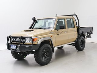 2021 Toyota Landcruiser 70 Series VDJ79R GXL Sandy Taupe 5 Speed Manual Double Cab Chassis.