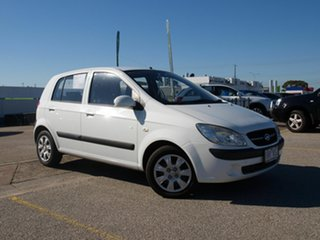 2011 Hyundai Getz TB MY09 SX White 4 Speed Automatic Hatchback.