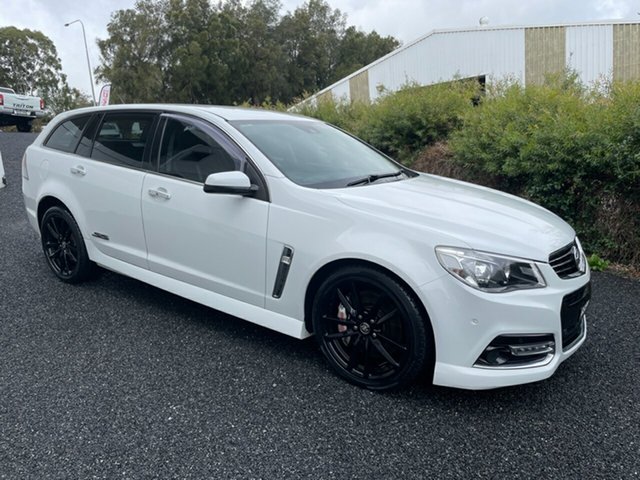 Used Holden Commodore VF MY14 SS V Sportwagon Redline Maitland, 2013 Holden Commodore VF MY14 SS V Sportwagon Redline White 6 Speed Sports Automatic Wagon