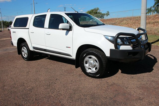 Pre-Owned Holden Colorado RG MY17 LS Pickup Crew Cab Darwin, Holden Colorado RG MY17 LS Pickup Crew Cab White 6 Speed Automatic Crew Cab P/Up
