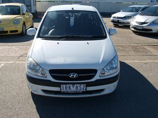 2011 Hyundai Getz TB MY09 SX White 4 Speed Automatic Hatchback