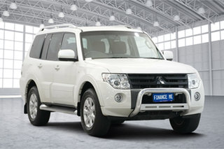2010 Mitsubishi Pajero NT MY10 RX White 5 Speed Sports Automatic Wagon.