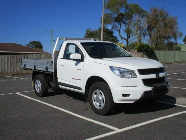 Used Holden Colorado LX Timboon, 2014 Holden Colorado RG Turbo LX Summit White Manual SINGLE CABCHASS