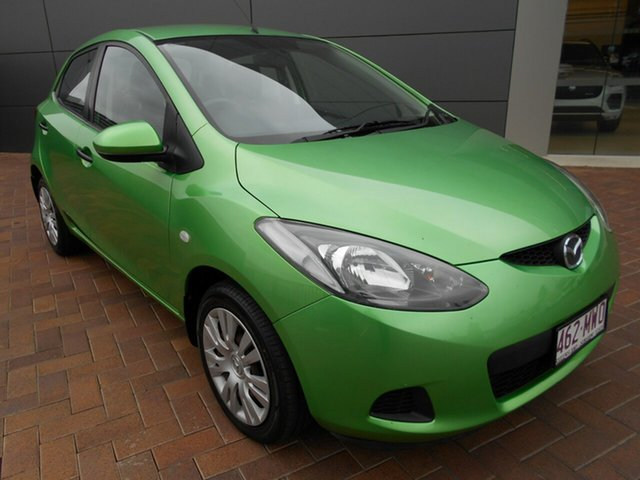 Used Mazda 2 DE10Y1 Neo Toowoomba, 2009 Mazda 2 DE10Y1 Neo Green 5 Speed Manual Hatchback