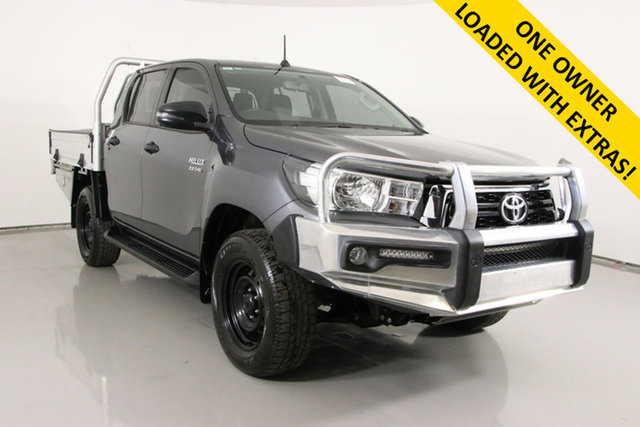 Used Toyota Hilux GUN126R MY19 SR (4x4) Bentley, 2018 Toyota Hilux GUN126R MY19 SR (4x4) Graphite 6 Speed Automatic Double Cab Chassis