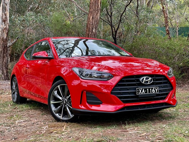 Demo Hyundai Veloster JS MY20 Reynella, 2019 Hyundai Veloster JS MY20 Ignite Flame 6 Speed Automatic Coupe