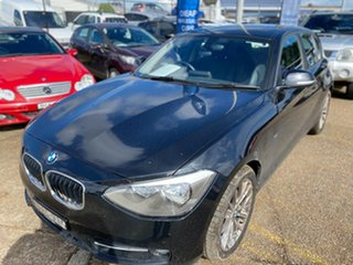 2014 BMW 1 Series F20 MY0713 118i Steptronic Black Sapphire 8 Speed Sports Automatic Hatchback