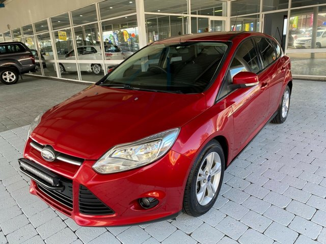 Used Ford Focus Trend Taree, 2014 Ford Focus Trend Red Sports Automatic Dual Clutch Hatchback