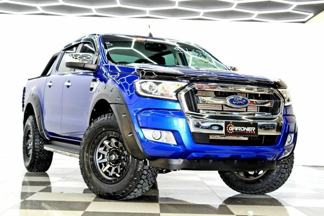 Used Ford Ranger PX MkII MY17 XLT 3.2 Hi-Rider (4x2) Burleigh Heads, 2016 Ford Ranger PX MkII MY17 XLT 3.2 Hi-Rider (4x2) Blue 6 Speed Manual Crew Cab Pickup