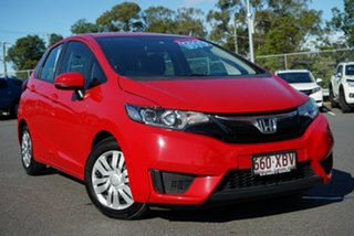 2016 Honda Jazz GF MY17 VTi Red 1 Speed Constant Variable Hatchback.