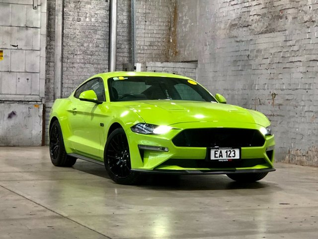 Used Ford Mustang FN 2020MY GT Mile End South, 2019 Ford Mustang FN 2020MY GT Grabber Lime 10 Speed Sports Automatic Fastback