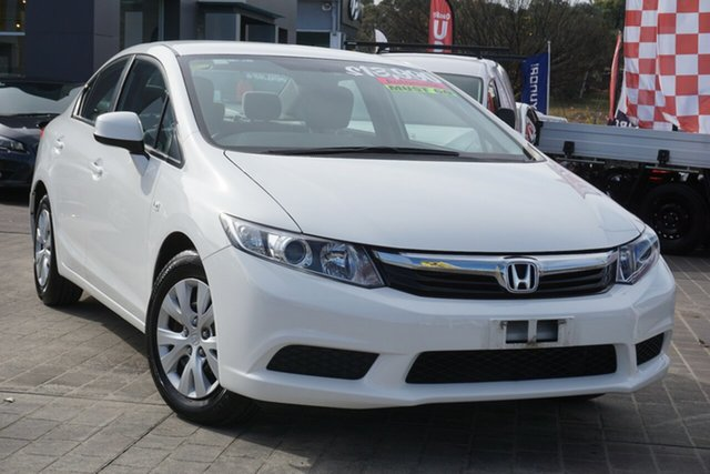 Used Honda Civic 9th Gen VTi-S Phillip, 2012 Honda Civic 9th Gen VTi-S White 5 Speed Sports Automatic Hatchback