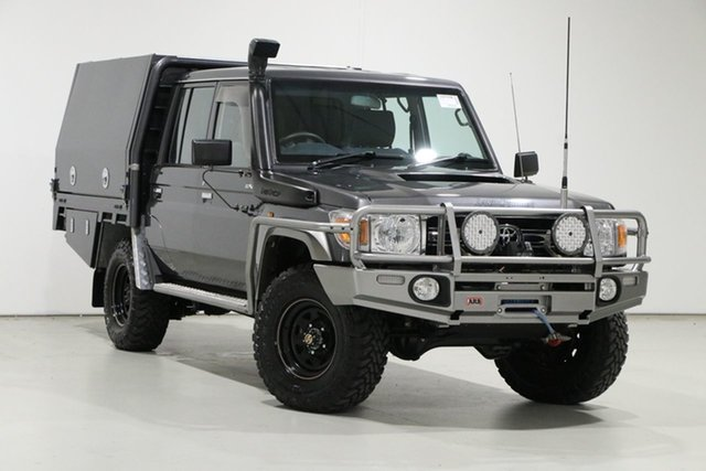 Used Toyota Landcruiser VDJ79R MY12 Update GXL (4x4) Bentley, 2015 Toyota Landcruiser VDJ79R MY12 Update GXL (4x4) Graphite 5 Speed Manual Double Cab Chassis