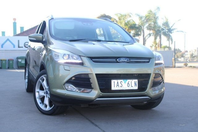 Used Ford Kuga TF Titanium (AWD) West Footscray, 2013 Ford Kuga TF Titanium (AWD) Green 6 Speed Automatic Wagon