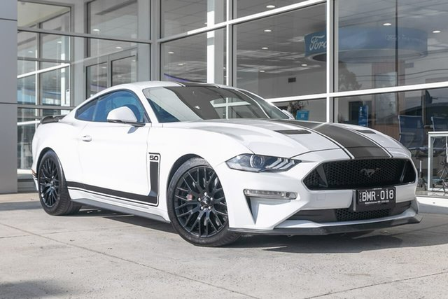 Used Ford Mustang FN 2019MY GT Ferntree Gully, 2019 Ford Mustang FN 2019MY GT White 10 Speed Sports Automatic Fastback