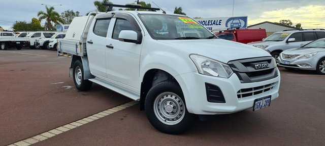 Used Isuzu D-MAX MY17 SX Crew Cab 4x2 High Ride East Bunbury, 2017 Isuzu D-MAX MY17 SX Crew Cab 4x2 High Ride White 6 Speed Sports Automatic Cab Chassis