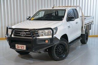 2017 Toyota Hilux GUN126R SR Extra Cab White 6 Speed Manual Utility.