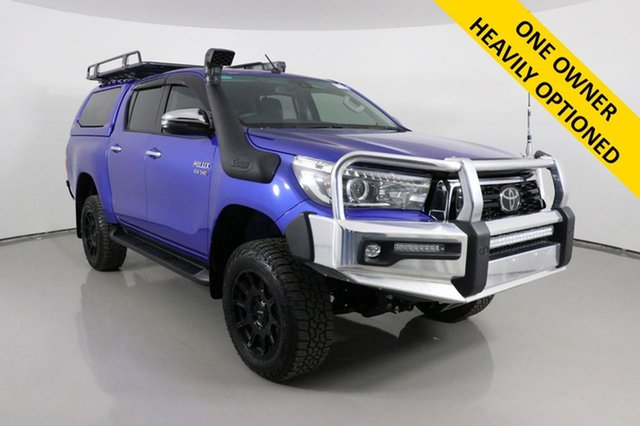 Used Toyota Hilux GUN126R MY19 Upgrade SR5 (4x4) Bentley, 2019 Toyota Hilux GUN126R MY19 Upgrade SR5 (4x4) Blue 6 Speed Automatic Double Cab Pick Up