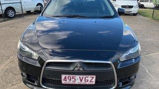2014 Mitsubishi Lancer CJ MY14 VR-X Black 6 Speed CVT Auto Sequential Sedan.