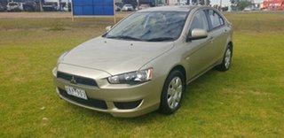 2009 Mitsubishi Lancer CJ MY10 ES Sportback Gold 6 Speed Constant Variable Hatchback.