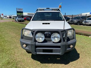 2010 Toyota Hilux KUN26R MY10 SR White 5 Speed Manual Cab Chassis.