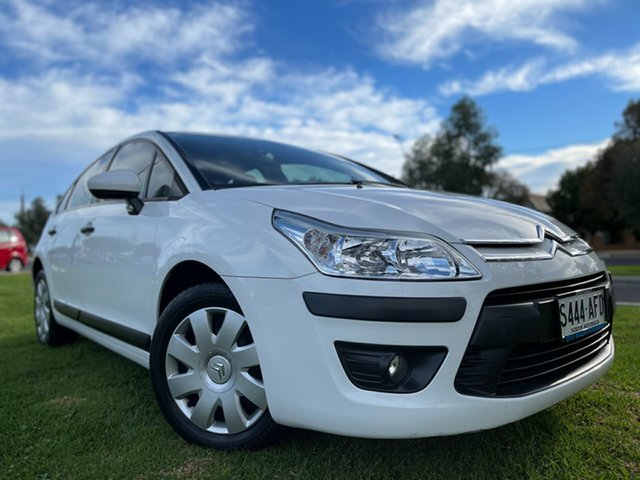 Used Citroen C4 HDi EGS Hindmarsh, 2009 Citroen C4 HDi EGS White 6 Speed Sports Automatic Single Clutch Hatchback