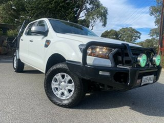 2015 Ford Ranger PX MkII XLS Double Cab Cool White 6 Speed Manual Utility.
