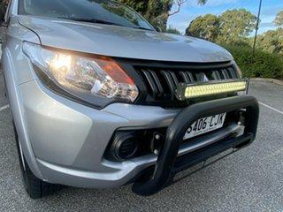 2016 Mitsubishi Triton MQ MY16 GLX+ Double Cab Silver 5 Speed Sports Automatic Utility.