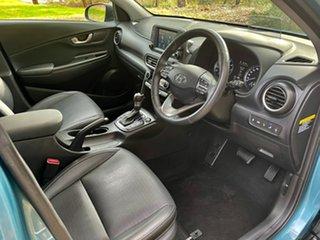 2017 Hyundai Kona OS MY18 Highlander 2WD Ceramic Blue + Dark 6 Speed Sports Automatic Wagon