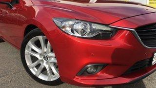 2013 Mazda 6 GJ1021 Atenza SKYACTIV-Drive Red/Black 6 Speed Sports Automatic Sedan.