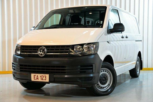 Used Volkswagen Transporter T6 MY18 TDI340 SWB DSG Hendra, 2017 Volkswagen Transporter T6 MY18 TDI340 SWB DSG White 7 Speed Sports Automatic Dual Clutch Van