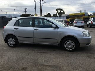2001 Toyota Corolla ZZE122R Ascent Silver 5 Speed Manual Hatchback.