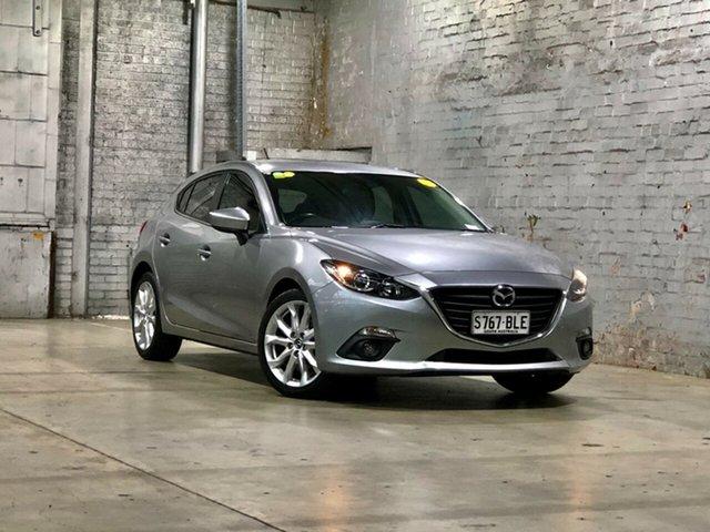 Used Mazda 3 BM5438 SP25 SKYACTIV-Drive Mile End South, 2015 Mazda 3 BM5438 SP25 SKYACTIV-Drive Silver 6 Speed Sports Automatic Hatchback