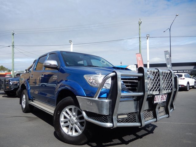 Pre-Owned Toyota Hilux KUN26R MY14 SR5 (4x4) Dalby, 2014 Toyota Hilux KUN26R MY14 SR5 (4x4) Tidal Blue 5 Speed Manual Dual Cab Pick-up